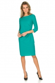 D-ETOILES CASIOPE |  Stretch dress Nadeleine | sea green  | Picture 6