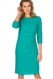 D-ETOILES CASIOPE |  Stretch dress Nadeleine | sea green  | Picture 2