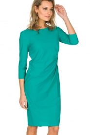 D-ETOILES CASIOPE |  Stretch dress Nadeleine | sea green  | Picture 4