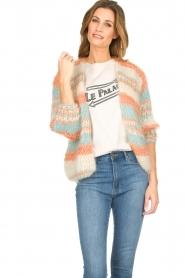 Les tricots d'o | Wollen vest Haley | naturel   | Afbeelding 2