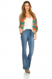 Les tricots d'o |   Wool cardigan Haley | camel  | Picture 3