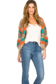 Les tricots d'o |   Wool cardigan Haley | camel  | Picture 4