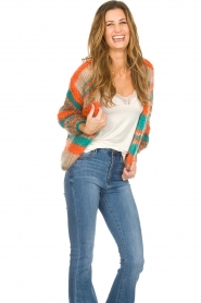 Les tricots d'o |   Wool cardigan Haley | camel  | Picture 2