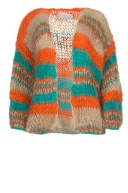 Les tricots d'o |   Wool cardigan Haley | camel  | Picture 1