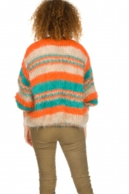 Les tricots d'o |   Wool cardigan Haley | camel  | Picture 6