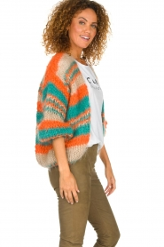 Les tricots d'o |   Wool cardigan Haley | camel  | Picture 5