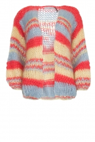 Les tricots d'o |  Wool cardigan Haley | blue