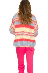 Les tricots d'o |  Wool cardigan Haley | blue  | Picture 6