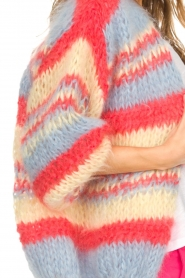 Les tricots d'o |  Wool cardigan Haley | blue  | Picture 7
