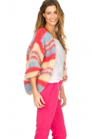 Les tricots d'o |  Wool cardigan Haley | blue  | Picture 5