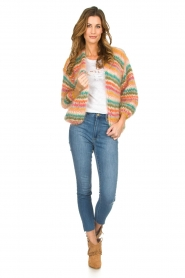 Les tricots d'o |  Wool cardigan Lene | multi  | Picture 3