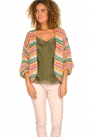 Les tricots d'o |  Wool cardigan Lene | multi  | Picture 4