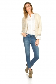 Les tricots d'o |  Wool cardigan Ilvy | white  | Picture 7