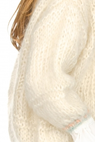 Les tricots d'o |  Wool cardigan Ilvy | white  | Picture 3