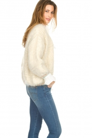 Les tricots d'o |  Wool cardigan Ilvy | white  | Picture 2