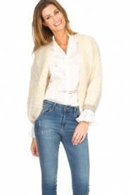 Les tricots d'o |  Wool cardigan Ilvy | white  | Picture 6