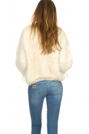 Les tricots d'o |  Wool cardigan Ilvy | white  | Picture 4