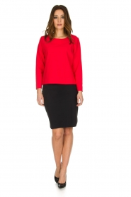 D-ETOILES CASIOPE | Stretch top Nazette | rood  | Afbeelding 3