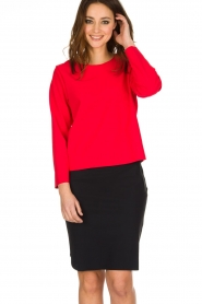 D-ETOILES CASIOPE | Stretch top Nazette | rood  | Afbeelding 2