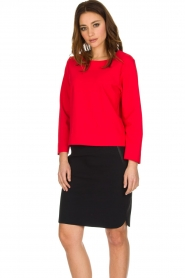 D-ETOILES CASIOPE | Stretch top Nazette | rood  | Afbeelding 4