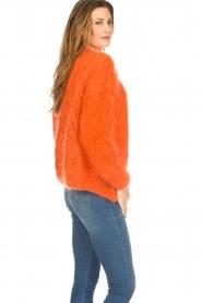 Les tricots d'o |  Wool cardigan Eline | orange  | Picture 4