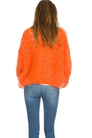 Les tricots d'o |  Wool cardigan Eline | orange  | Picture 6