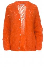 Les tricots d'o |  Mohair cardigan Eline | orange  | Picture 1