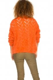Les tricots d'o |  Mohair cardigan Eline | orange  | Picture 6