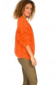 Les tricots d'o |  Mohair cardigan Eline | orange  | Picture 5