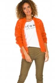 Les tricots d'o |  Mohair cardigan Eline | orange  | Picture 4