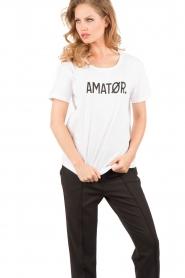 Amatør | T-shirt Amator | wit   | Afbeelding 2