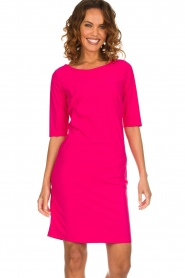 D-ETOILES CASIOPE |  Wrinkle free stretch dress Coco | pink  | Picture 2