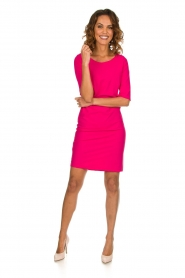 D-ETOILES CASIOPE |  Wrinkle free stretch dress Coco | pink  | Picture 3