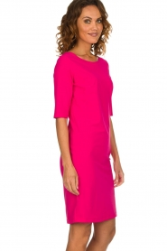 D-ETOILES CASIOPE |  Wrinkle free stretch dress Coco | pink  | Picture 4