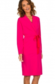 D-ETOILES CASIOPE |  Wrinkle free stretch dress Rien | pink  | Picture 4