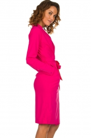 D-ETOILES CASIOPE |  Wrinkle free stretch dress Rien | pink  | Picture 5
