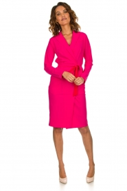 D-ETOILES CASIOPE |  Wrinkle free stretch dress Rien | pink  | Picture 3