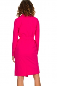 D-ETOILES CASIOPE |  Wrinkle free stretch dress Rien | pink  | Picture 6