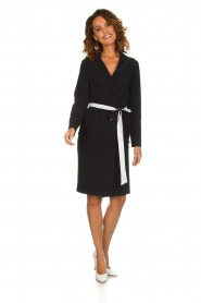 D-ETOILES CASIOPE |  Wrinkle free stretch dress Rien | black  | Picture 3