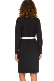 D-ETOILES CASIOPE |  Wrinkle free stretch dress Rien | black  | Picture 5