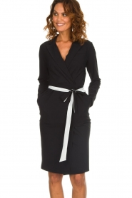 D-ETOILES CASIOPE |  Wrinkle free stretch dress Rien | black  | Picture 4