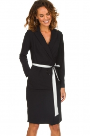 D-ETOILES CASIOPE |  Wrinkle free stretch dress Rien | black  | Picture 2