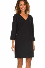 D-ETOILES CASIOPE |  Wrinkle free stretch dress Riche | black  | Picture 2