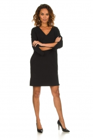 D-ETOILES CASIOPE |  Wrinkle free stretch dress Riche | black  | Picture 3