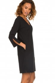 D-ETOILES CASIOPE |  Wrinkle free stretch dress Riche | black  | Picture 5