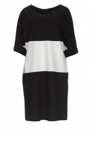 D-ETOILES CASIOPE |  Wrinkle free oversized dress Reçu | black & white  | Picture 1