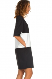 D-ETOILES CASIOPE |  Wrinkle free oversized dress Reçu | black & white  | Picture 5