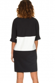 D-ETOILES CASIOPE |  Wrinkle free oversized dress Reçu | black & white  | Picture 6
