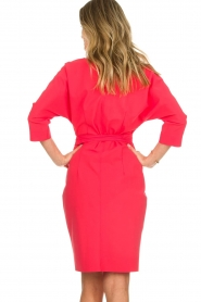 D-ETOILES CASIOPE |  Wrinkle free stretch dress Rock | pink  | Picture 6