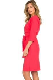 D-ETOILES CASIOPE |  Wrinkle free stretch dress Rock | pink  | Picture 5